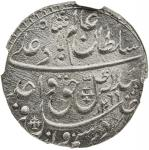 AWADH: Wajid Ali Shah, 1847-1856, AR rupee, Lucknow, AH1269 year 6, KM-365。3, fresh surfaces, lustro