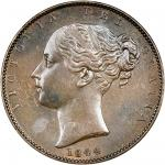 Victoria (1837-1901), copper Farthing, 1844, young head left, rev. Britannia seated right (Peck 1565