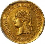 COLOMBIA. 1863 Peso. Medellín mint. Restrepo 321.1. MS-62 (PCGS).