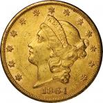 1864-S Liberty Head Double Eagle. Mint State, Altered Surfaces Uncertified).