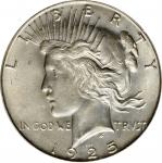 1925-S Peace Silver Dollar. MS-64 (PCGS).