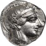 ATTICA. Athens. AR Tetradrachm (17.19 gms), ca. 454-404 B.C. NGC MS★, Strike: 5/5 Surface: 5/5.