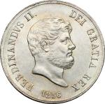 Monete e Medaglie di Zecche Italiane, Napoli.  Ferdinando II di Borbone (1830-1859). Piastra 1856. P