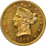 1866 Liberty Head Eagle. Motto. MS-61 (PCGS). CAC.