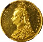 GREAT BRITAIN. 1/2 Sovereign, 1887. NGC PROOF-61 ULTRA CAMEO.