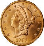 1907-D Liberty Head Double Eagle. MS-64 (NGC).