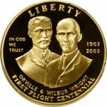 2003-W First Flight Centennial Gold $10. Proof-69 Deep Cameo (PCGS).
