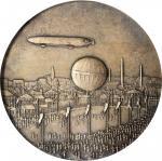 GERMANY. Zeppelin Visits Nuremberg Silver Medal, 1909. PCGS MATTE SPECIMEN-64 Gold Shield.