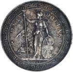 1897-(B)年英国贸易银元站洋壹圆银币。孟买铸币厂。 GREAT BRITAIN. Trade Dollar, 1897-(B). Bombay Mint. PCGS EF-45.