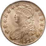 1824 Capped Bust Half Dollar. PCGS MS65