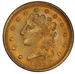 1839-C Classic Head Quarter Eagle. McCloskey-3. Winter 3-C. Mint State-62 (PCGS).