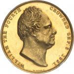 GRANDE-BRETAGNE Guillaume IV (1830-1837). Médaille d'Or, couronnement de Guillaume IV et d'Adélaïde
