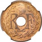 1935年坐洋半分铜币。试打样币。