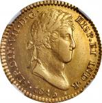 MEXICO. 2 Escudos, 1815-Mo JJ. Mexico City Mint. Ferdinand VII. NGC EF-45.