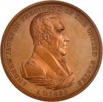 1829 Andrew Jackson Indian Peace Medal. First Size. Bronzed Copper. 76 mm. Julian IP-14. Mint State.