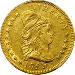 1795年半身像右鹰金币 PCGS AU Details 1795 Capped Bust Right Eagle