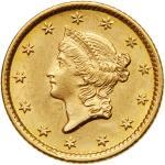 1854 $1 Gold Liberty. PCGS MS62