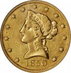 1850-O Liberty Head Eagle. Winter-2. EF-45 (NGC).