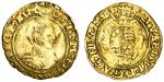 Edward VI (1547-53), Halfcrown, Southwark, Second period, 1.27g, mm. Y, scvtvm fidei proteget evm, l