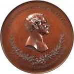 1848 Major General Zachary Taylor. Bronzed Copper. 90 mm. By Charles Cushing Wright. Julian MI-24. M