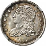1837 Capped Bust Dime. JR-4. Rarity-1. MS-65 (NGC).