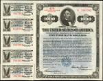 United States of America. Act of September 24, 1917, as amended April 21, 1919. $1000 4-3/4% Coupon