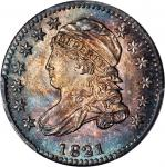 1821 Capped Bust Dime. JR-9. Rarity-2. Small Date. MS-65 (PCGS).