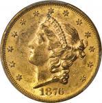 1876-S Liberty Head Double Eagle. MS-61 (PCGS).