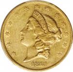 1861 Liberty Head Double Eagle. EF-45 (PCGS).