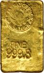 1943 New York Assay Office Gold Ingot. 35 mm x 58.5 mm x 9 mm. 10.49 ounces, .9998 fine.