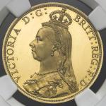 GREAT BRITAIN Victoria ヴィクトリア(1837~1901) 2Pounds 1887 NGC-PF64★Ultra Cameo Proof UNC/FDC