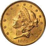 1861 Liberty Head Double Eagle. MS-62 (PCGS). CAC.