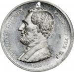 Circa 1864 Washington and Flags / Abraham Lincoln medal by William H. Key. Musante GW-720, Baker-235