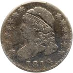 "1814 Capped Bust Dime. ""STATESOFAMERICA"". PCGS F12"