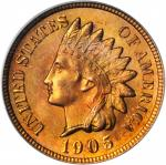 1905 Indian Cent. MS-65 RD (PCGS).