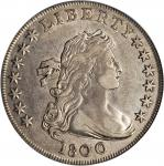1800 Draped Bust Silver Dollar. BB-190, B-10a. Rarity-3. Very Wide Date, Low 8. EF-40 (PCGS).