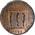 Great Britain--Middlesex. 1796 Noted Advocates for the Rights of Men Halfpenny Token. D&H-838, W-902