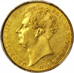 GREAT BRITAIN. 2 Pounds, 1823. George IV (1820-30). PCGS AU-58 Secure Holder.
