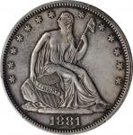 1881 Liberty Seated Half Dollar. WB-101. Type I Reverse. Proof-53 (PCGS).