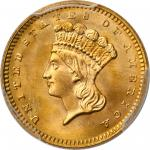 1862 Gold Dollar. MS-67+ (PCGS). CAC.