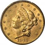1873 Liberty Head Double Eagle. Open 3. MS-61 (PCGS).