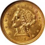 1856 Liberty Head Quarter Eagle. MS-62 (NGC). CAC.