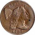 1795 Liberty Cap Cent. S-78. Rarity-1. Plain Edge. MS-63 BN (PCGS).