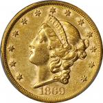 1869-S Liberty Head Double Eagle. AU-50 (PCGS).