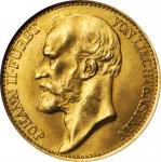 LIECHTENSTEIN. 20 Kronen, 1898. Johann II (1858-1929). Vienna Mint. NGC MS-64.