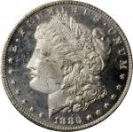 1880/79-CC GSA Morgan Silver Dollar. VAM-4. Top 100 Variety. Reverse of 1878. MS-64 DPL (NGC).