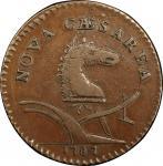 1787 New Jersey copper. Maris 63-q. Rarity-3. Large Planchet. EF-45 (PCGS).