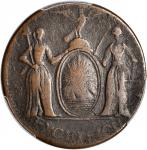 1787 Excelsior Copper. W-5780. Rarity-6+. Eagle on Globe Right, Arrows at Right. VF-25 (PCGS).