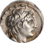 SYRIA. Seleukid Kingdom. Antiochus VII Sidetes, 138-129 B.C. AR Tetradrachm (16.89 gms). NGC Ch EF,