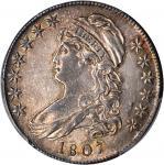 1807 Capped Bust Half Dollar. O-112. Rarity-1. Large Stars, 50/20. AU-50 (PCGS).